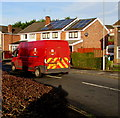 ST3090 : Large Royal Mail van, Larch Grove, Malpas, Newport by Jaggery