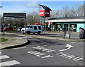 ST3086 : Drive Thru Only direction arrow in 28 East Retail Park, Newport by Jaggery
