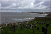SD4161 : Morecambe Bay from St Peter's church, Heysham by Robert Eva