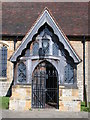 TQ5446 : St Mary's Church Door in Leigh, Kent. by John P Reeves