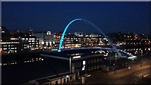 NZ2563 : Millennium Bridge, River Tyne by Les Hull