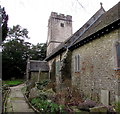 ST1396 : South side of St Catwg's church, Gelligaer by Jaggery