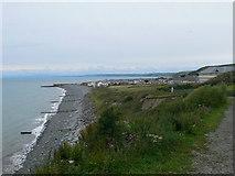 SN4562 : View to Aberaeron from the Coast Path by Eirian Evans