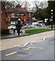 ST3091 : Walking the dogs, Almond Drive, Malpas, Newport by Jaggery