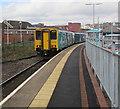 SO0505 : Cardiff Central train at Merthyr Tydfil railway station by Jaggery