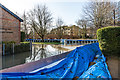 TQ1656 : Flood defences - Emlyn Lane by Ian Capper