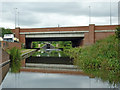SP1893 : M6 Toll crossing canal near Curdworth, Warwickshire by Roger  Kidd