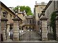 ST7475 : Gates and Courtyard at Dyrham House by Eirian Evans