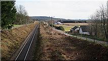 NJ1461 : Railway to Aberdeen by Anne Burgess