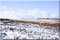 NY9642 : Snow on slope on north side of Long Hill (2) by Trevor Littlewood
