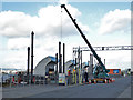 ST1972 : Sluice maintenance on the Cardiff Bay Barrage by Chris Allen