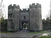 ST5545 : Gateway to the moated Bishop's Palace by Eirian Evans