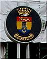 SS9079 : Villenave d'Ornon crest, Angel Street, Bridgend by Jaggery