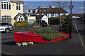 ST5877 : Boat flower bed on South Croft by Robert Eva