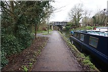 TQ1683 : Grand Union Canal at Ballot Box Bridge by Ian S