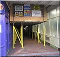 ST3188 : High Street end of Market Arcade scaffolding, Newport by Jaggery