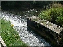 S4943 : Mill leat overflow, Kells Flour Mill by Eirian Evans