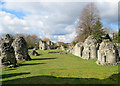 TL8683 : Thetford Priory: the ruined nave of the Priory Church by John Sutton