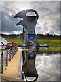 NS8580 : The Falkirk Wheel and Lower Basin by David Dixon