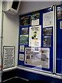 SS9398 : Rhondda Tunnel Society information in Treherbert station waiting room by Jaggery
