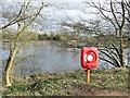 SJ8639 : Trentham Gardens: lifebelt point by Stephen Craven