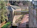 NS8842 : The Glass Bridge, New Lanark by David Dixon