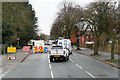 NY4155 : Road Works on Warwick Road by David Dixon