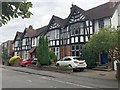SP2971 : Mock-Tudor semi-detached houses, Station Road, Kenilworth by Robin Stott