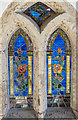 TF0811 : Porch Stained glass window, St Thomas à Becket church, Greatford by Julian P Guffogg