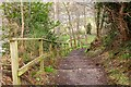 NT5434 : Steps on the riverside path, Melrose by Jim Barton
