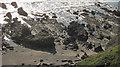 SS1904 : Wave-cut platform and rocks, Upton by Derek Harper