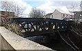 SS9596 : West side of Station Road river bridge, Treorchy by Jaggery