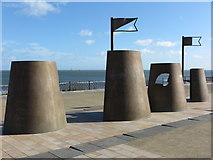 NZ3572 : 'Sandcastles' Art Work, Spanish City Plaza, Whitley Bay by Geoff Holland