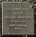 NT9953 : A plaque for the Royal Border Bridge by Walter Baxter
