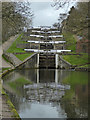 SE1039 : Leeds and Liverpool Canal - Bingley five-rise locks by Chris Allen