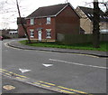 ST2381 : Willowbrook Gardens speed bump, St Mellons, Cardiff by Jaggery