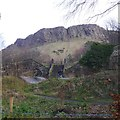 NT2673 : Salisbury Crags from Heriot Mount and the Skelf Bike Park by Richard Webb
