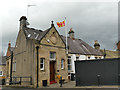 NY9364 : Flying the flag for Northumberland, Hexham by Stephen Craven