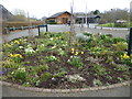 TQ2276 : Flower bed at the entrance to the London Wetland Centre by Marathon