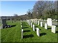 TQ4677 : War graves in Plumstead Cemetery by Marathon