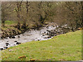 SD9278 : River Wharfe at Hubberholme by David Dixon