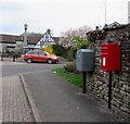 SO6302 : Queen Elizabeth II postbox and Royal Mail drop box, Church Gardens, Lydney by Jaggery