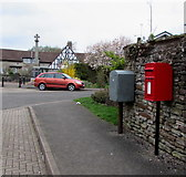 SO6302 : Queen Elizabeth II postbox and Royal Mail drop box, Church Gardens, Lydney by Jaggery