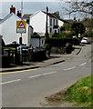 SS5889 : Warning sign - Patrol/Hebryngwr, Manselfield Road, Murton  by Jaggery