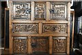 SH7877 : Conwy, Plas Mawr: Accurate reproduction of the Tudor Wynn Cupboard by Michael Garlick