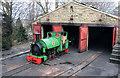SE2511 : Kirklees Light Railway, locomotive shed at Clayton West  by Chris Allen