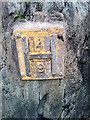 SH6266 : Hydrant marker on the High Street, Bethesda by Meirion