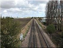 TL4097 : Railway line near Tesco in March by Richard Humphrey