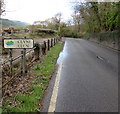SS7999 : Southern boundary sign, Clyne/Clun by Jaggery