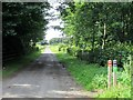 NT7034 : Private  road  on  Floors  Castle  Estate by Martin Dawes